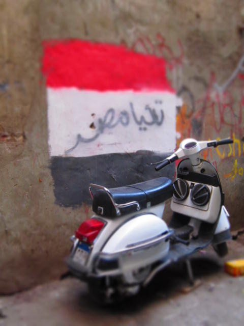 Revolution in progress in Cairo's Khan.